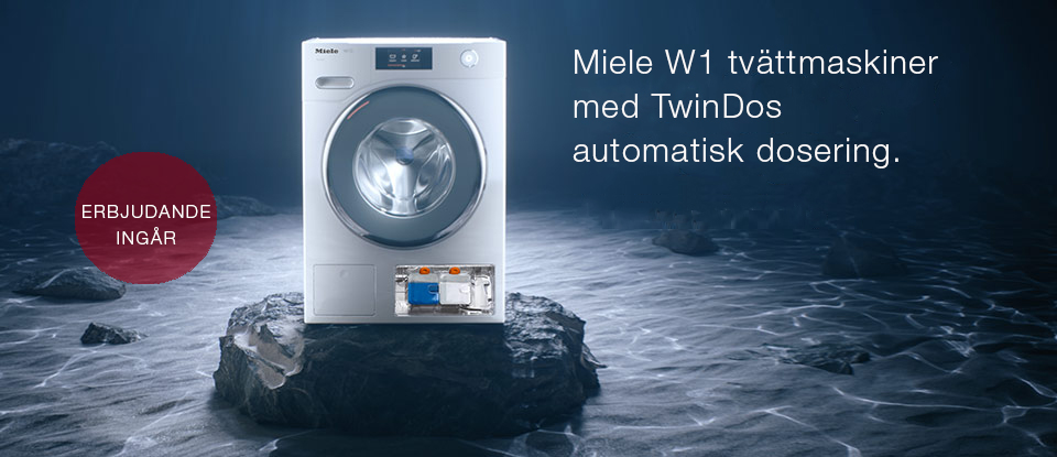 Miele W1 tvättmaskiner med TwinDos automatisk dosering
